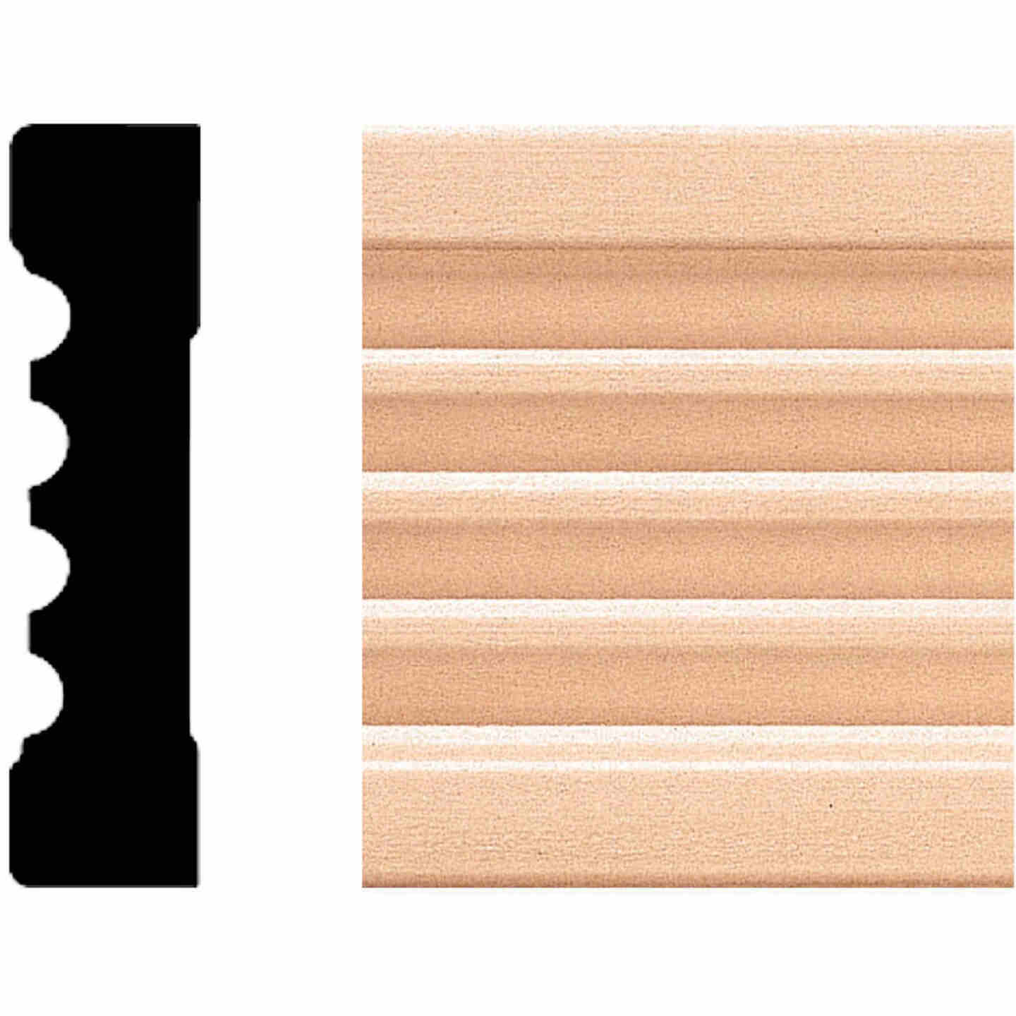 House of Fara 11/16 In. W. x 3 In. H. x 8 Ft. L. Natural Hardwood Fluted Wood Casing Image 1