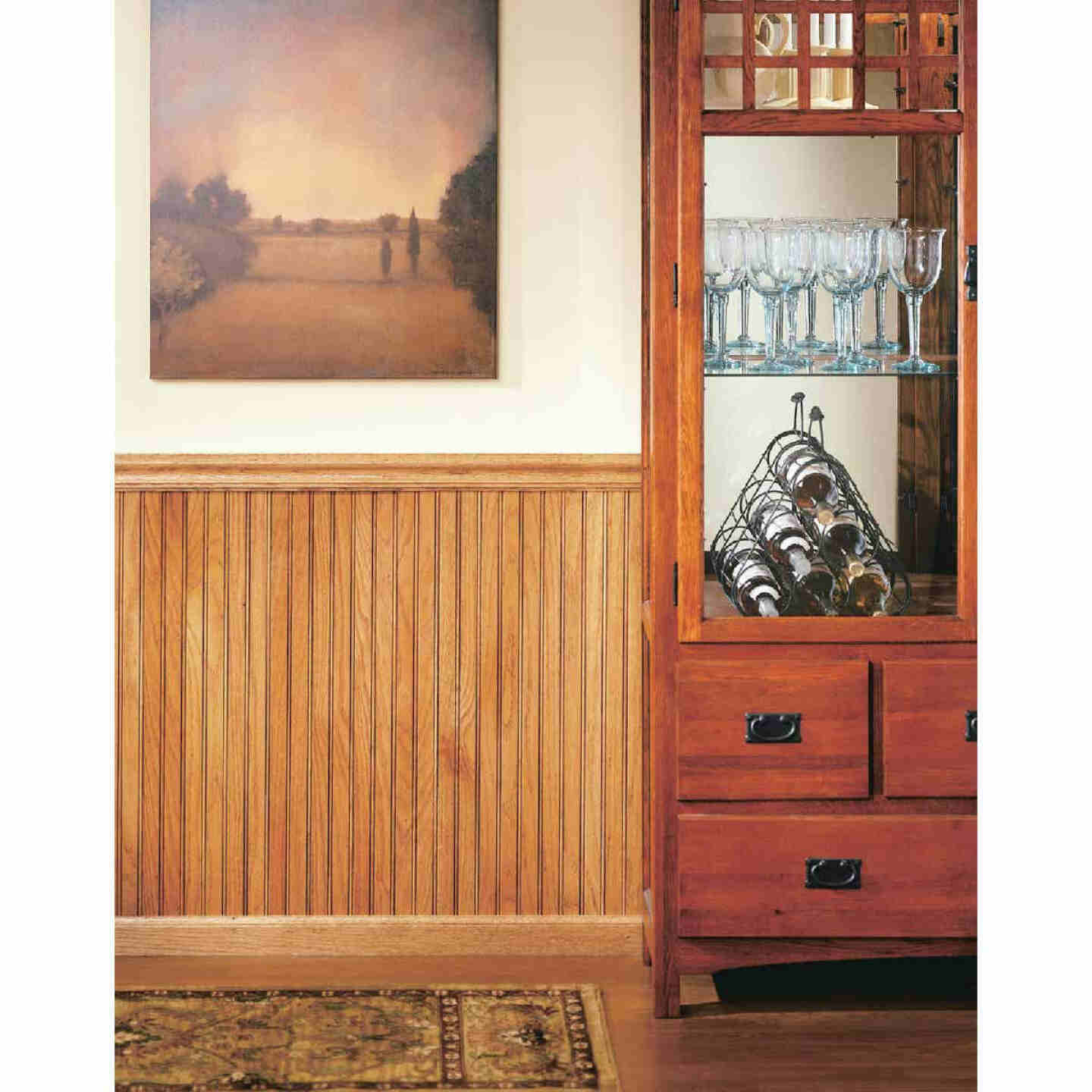 House of Fara 3/4 In. W. x 2-3/4 In. H. x 8 Ft. L. Solid Red Oak Wainscot Chair Rail Image 2