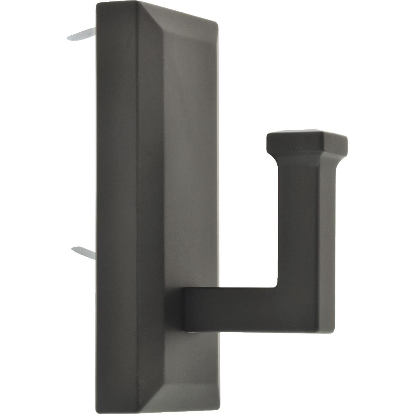 Hillman High and Mighty 15 Lb. Capacity Oil Rubbed Bronze Rectangular Decorative Hook Image 1