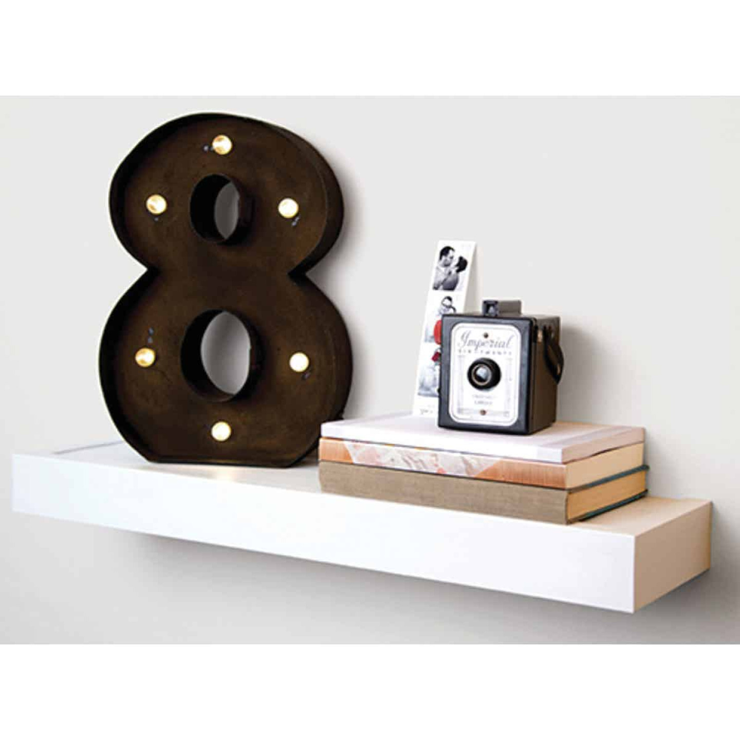 High and Mighty 18 In. White Floating Shelf  Image 2