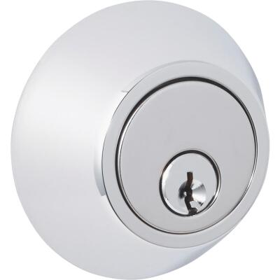 Steel Pro Polished Chrome Single Cylinder Deadbolt