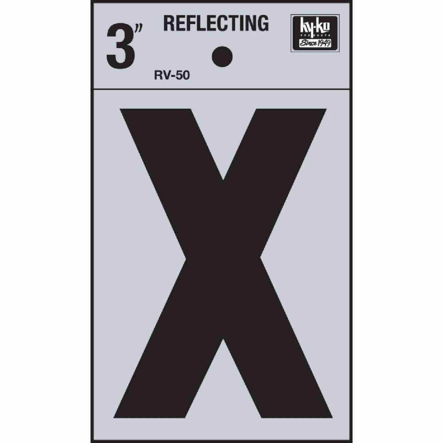 Hy-Ko Vinyl 3 In. Reflective Adhesive Letter, X Image 1