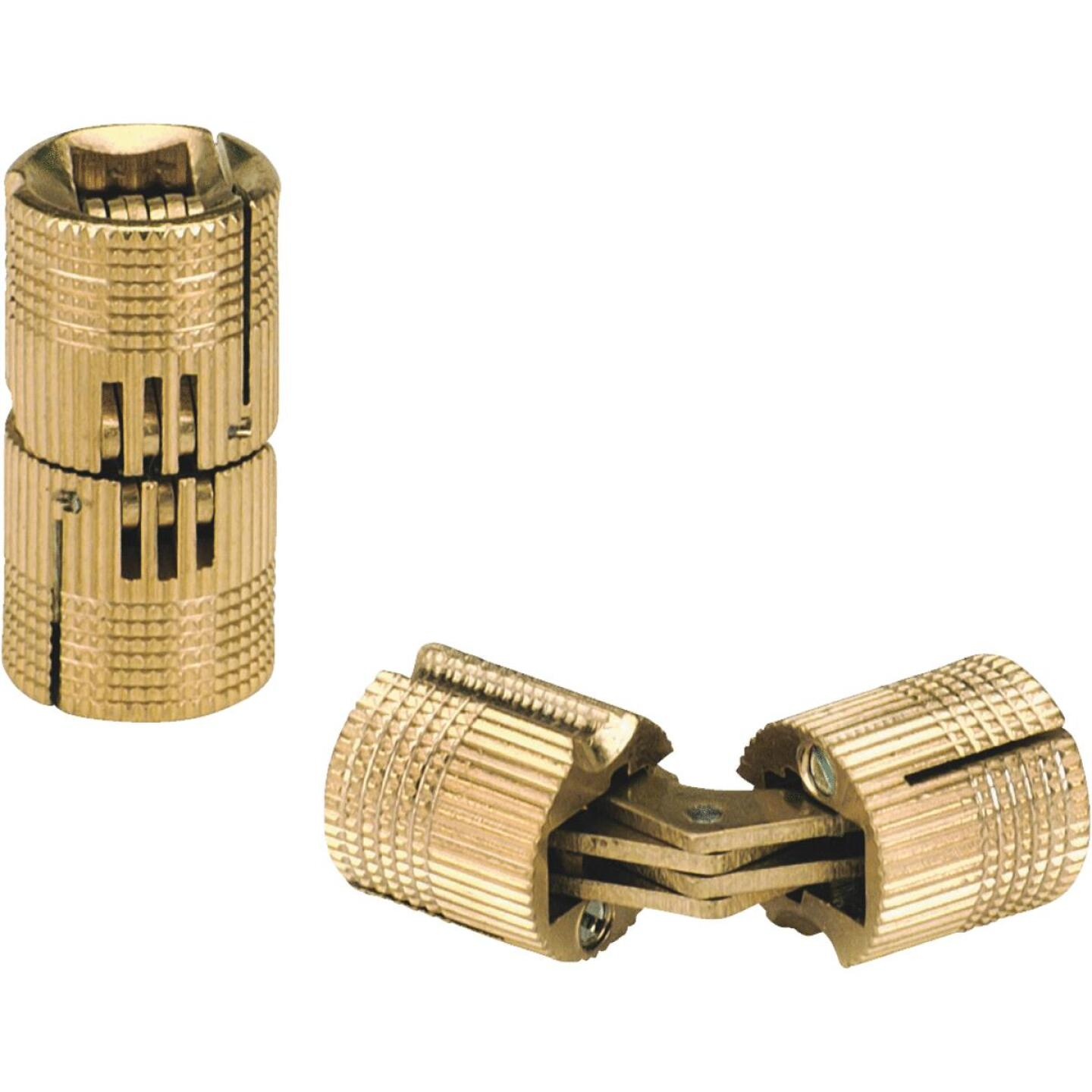 SOSS Solid Brass 5/8 In. Invisible Barrel Hinge, (2-Pack) Image 1