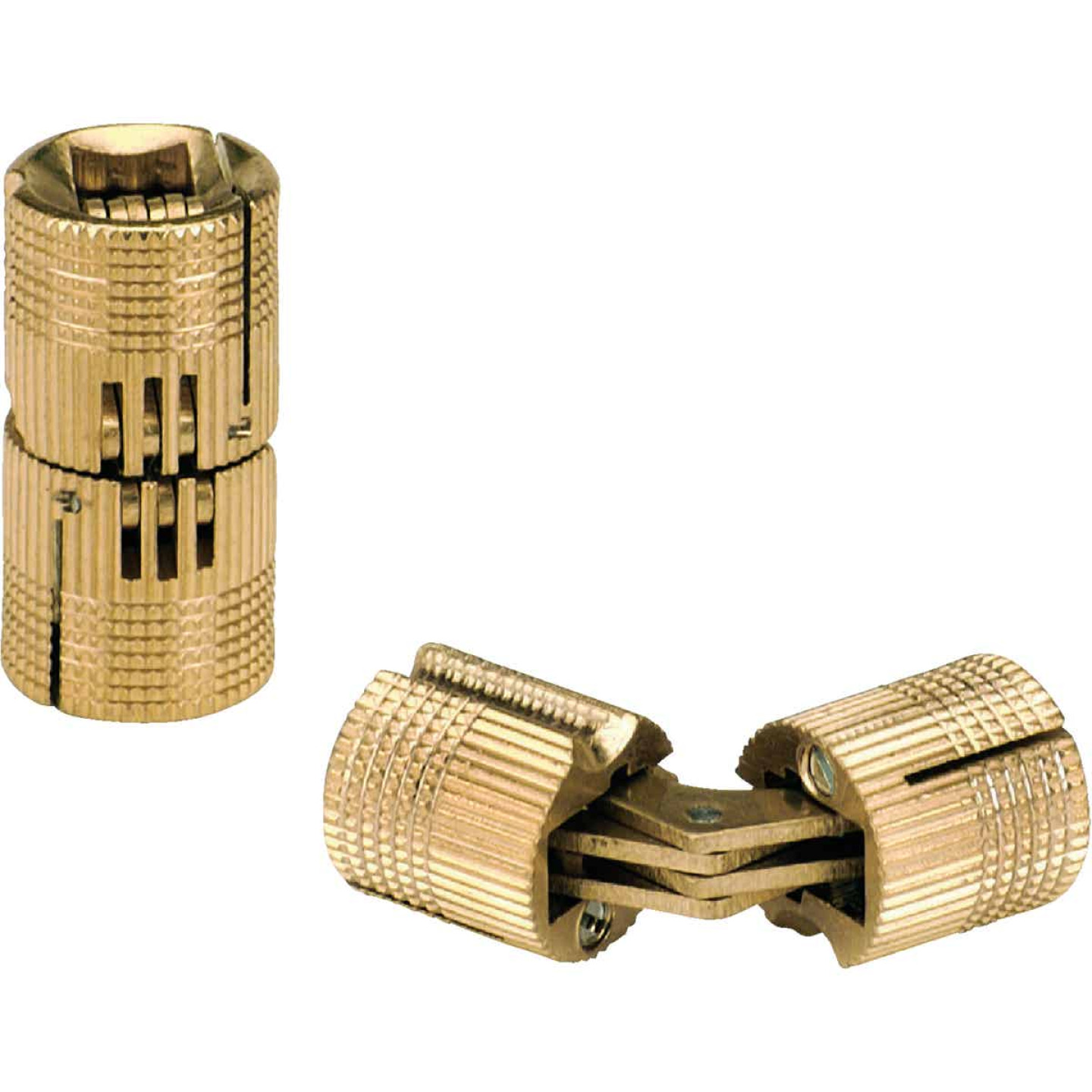 SOSS Solid Brass 3/4 In. Invisible Barrel Hinge, (2-Pack) Image 1