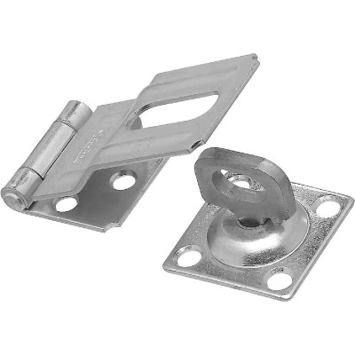 National 3-1/4 In. Zinc Swivel Safety Hasp