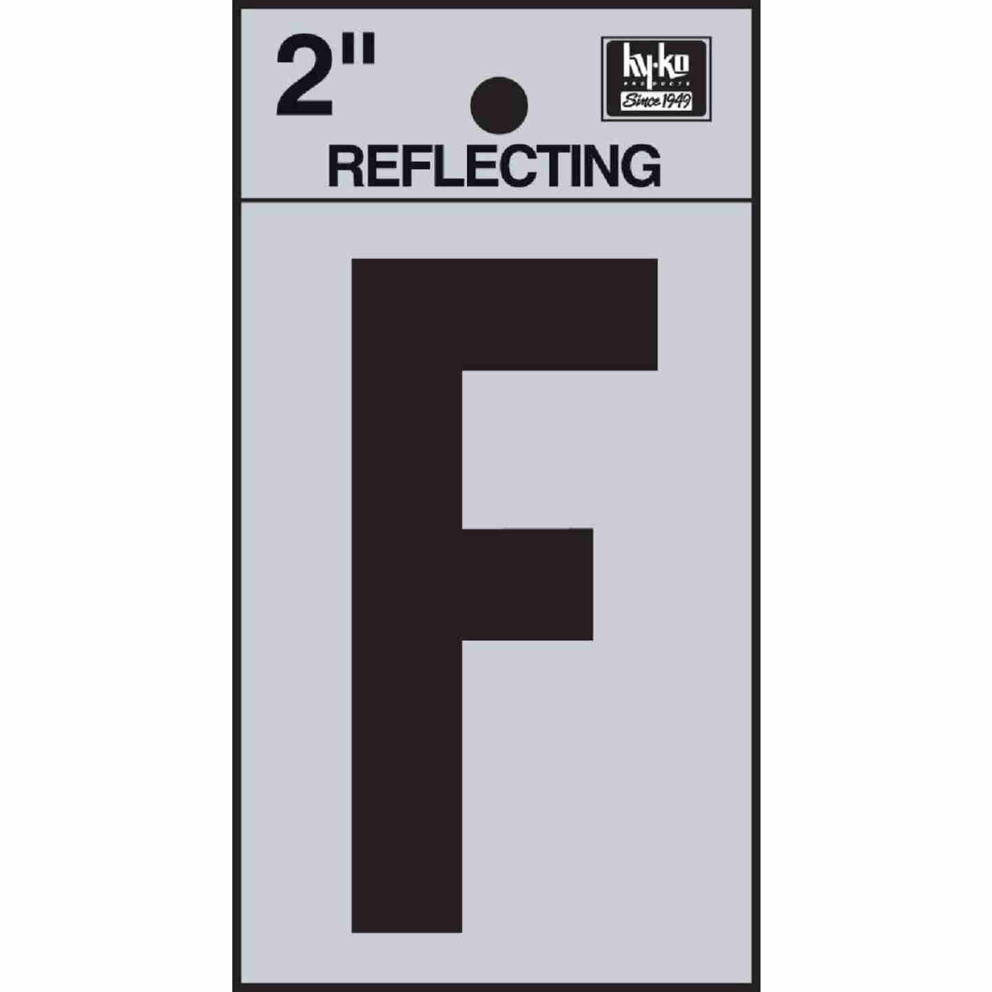 Hy-Ko Vinyl 2 In. Reflective Adhesive Letter, F Image 1