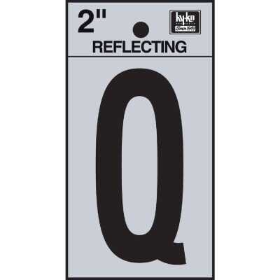 Hy-Ko Vinyl 2 In. Reflective Adhesive Letter, Q