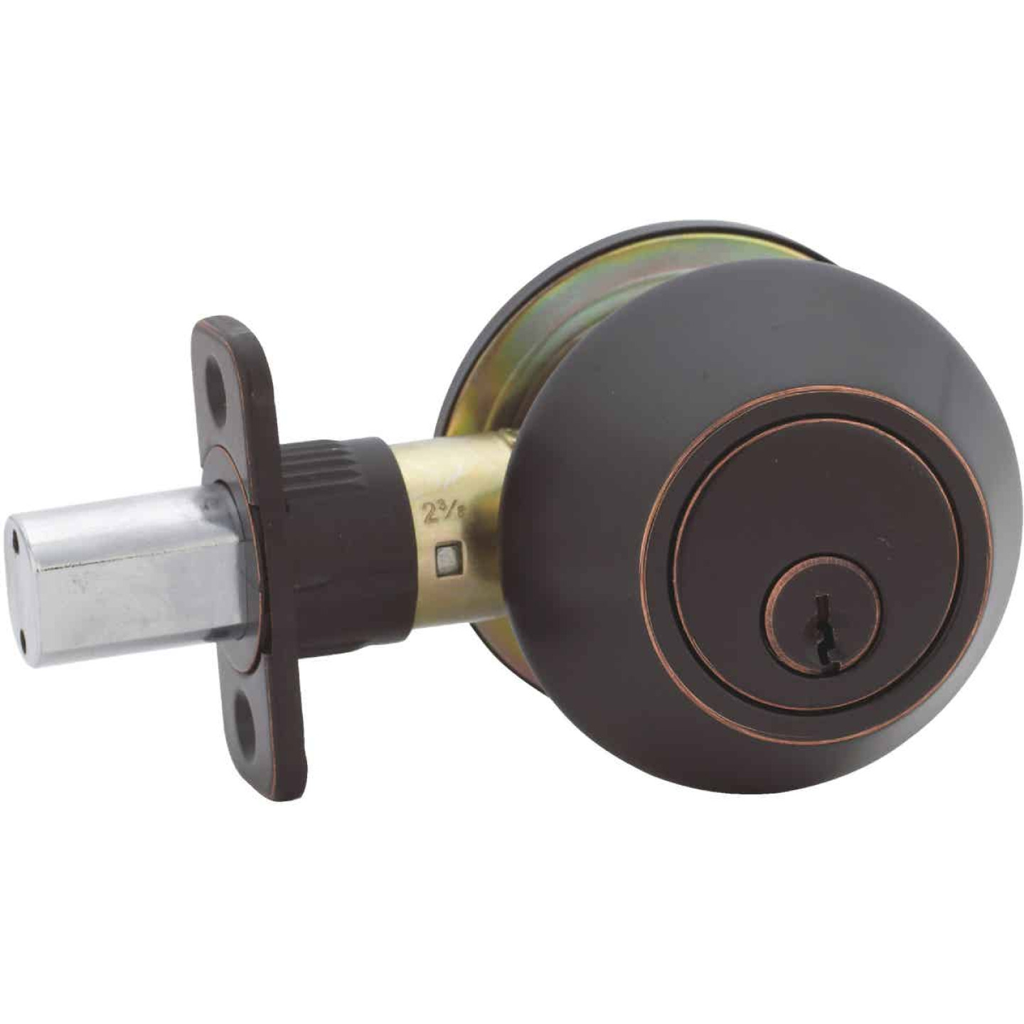 Steel Pro Oil Rubbed Bronze Kwikset Double Cylinder Deadbolt Image 3