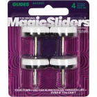 Magic Sliders 1-1/8 In. Round Nail on Furniture Glide,(4-Pack) Image 2