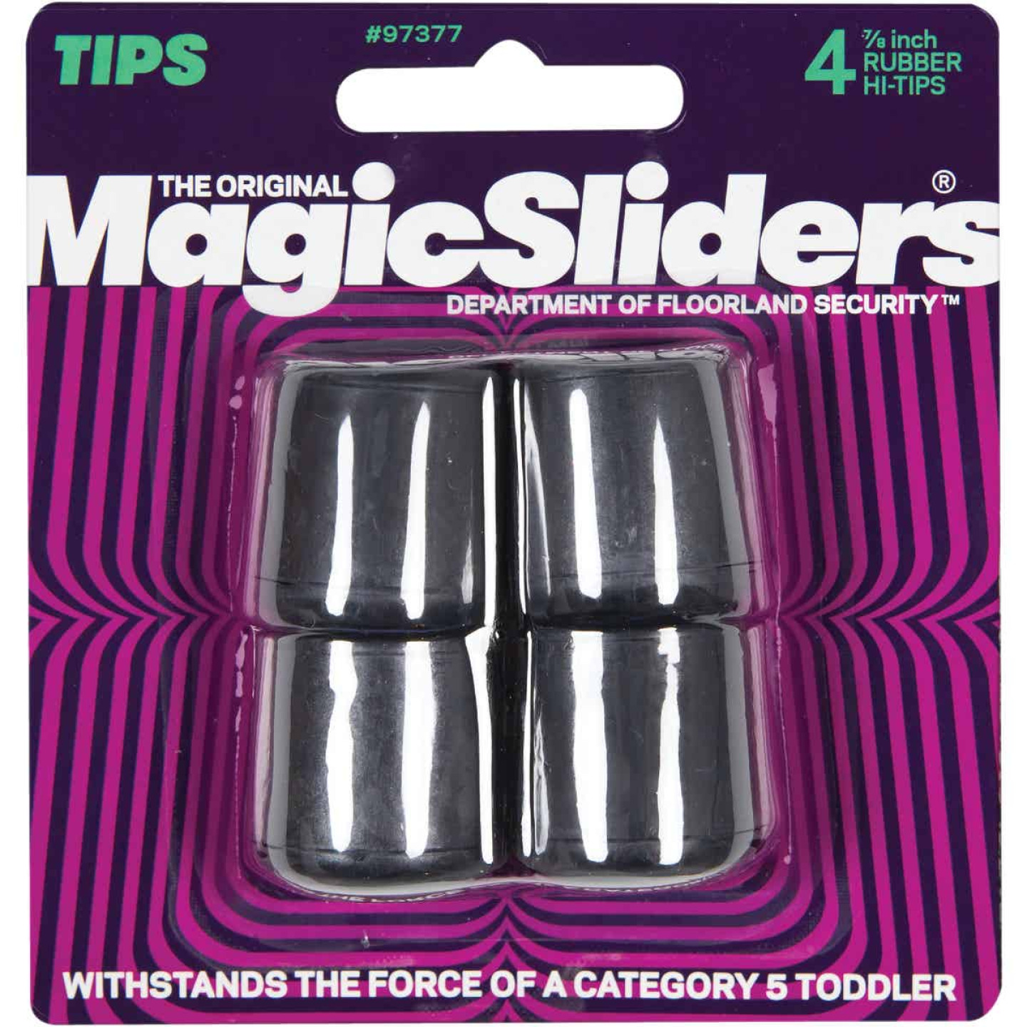 Magic Sliders 7/8 In. Hi-Tip Rubber Furniture Leg Tip,(4-Pack) Image 2