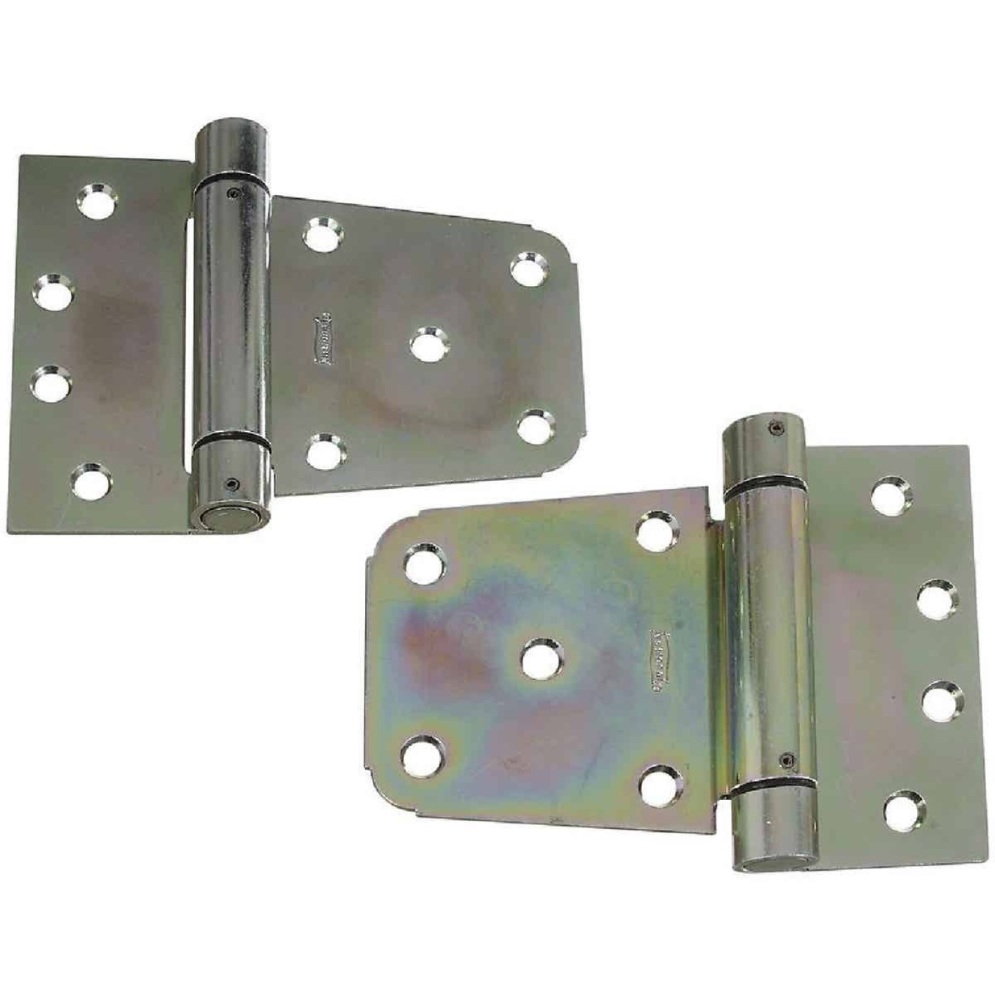 National 3-1/2 In. Zinc Heavy-Duty Gate Hinge Set (2 Count) Image 1