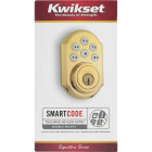 Kwikset Signature Series SmartCode Polished Brass Electronic Deadbolt Image 6