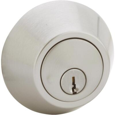 Steel Pro Satin Chrome Single Cylinder Deadbolt