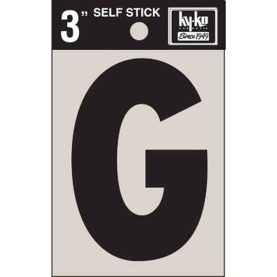 Hy-Ko Vinyl 3 In. Non-Reflective Adhesive Letter, G