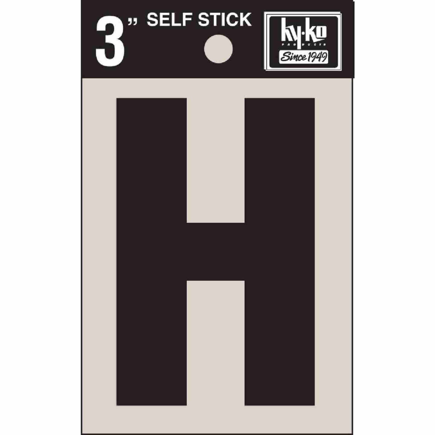 Hy-Ko Vinyl 3 In. Non-Reflective Adhesive Letter, H Image 1