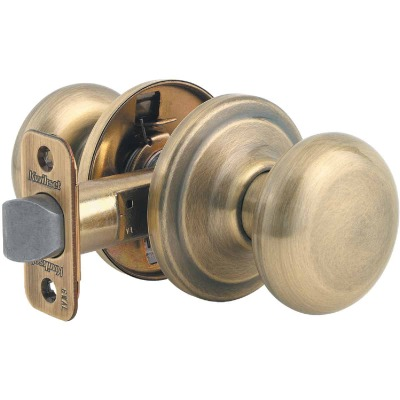 Kwikset Signature Series Antique Brass Hall & Closet Door Knob