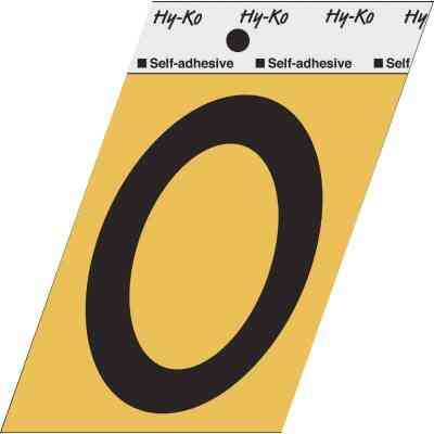 Hy-Ko Aluminum 3-1/2 In. Non-Reflective Adhesive Number Zero