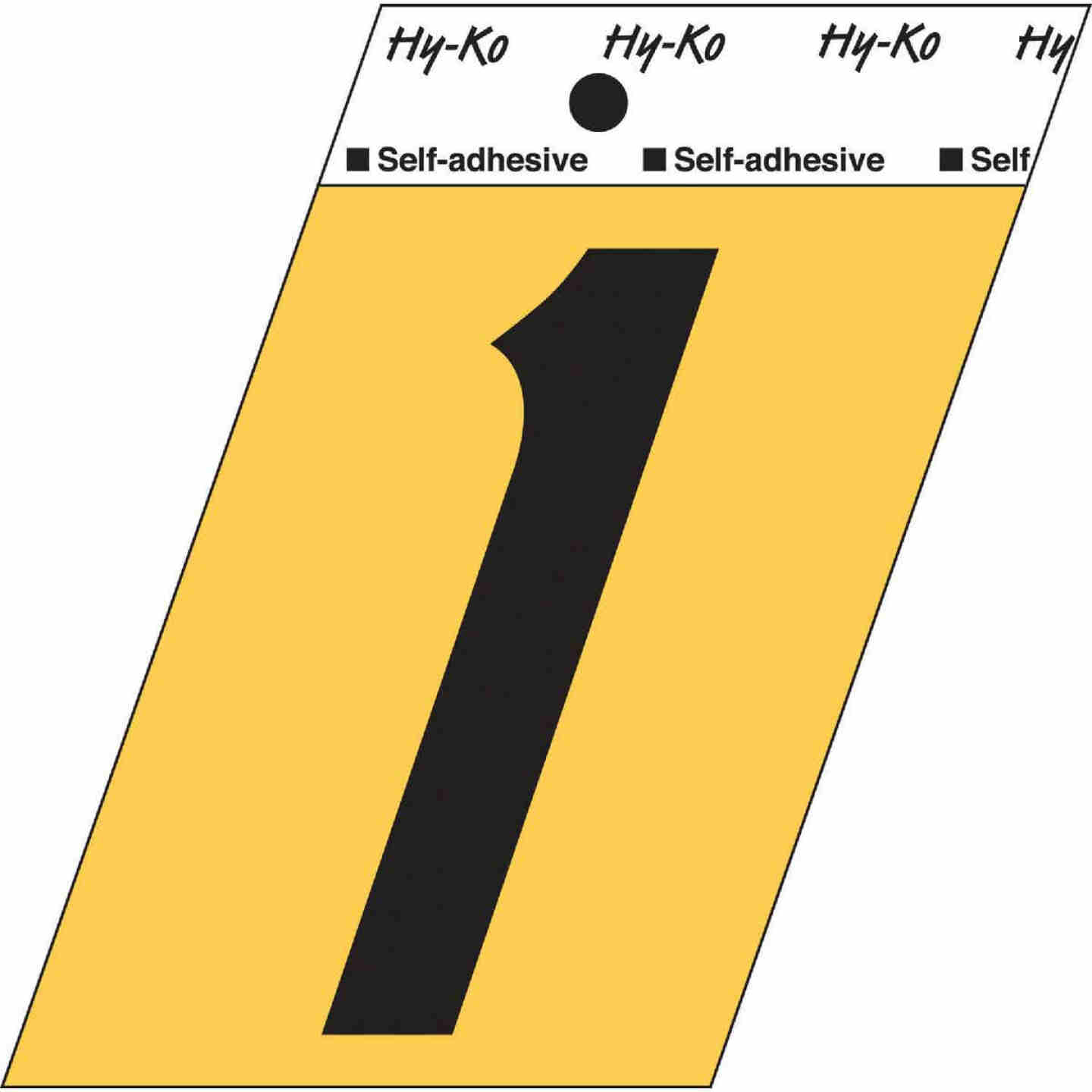 Hy-Ko Aluminum 3-1/2 In. Non-Reflective Adhesive Number One Image 1