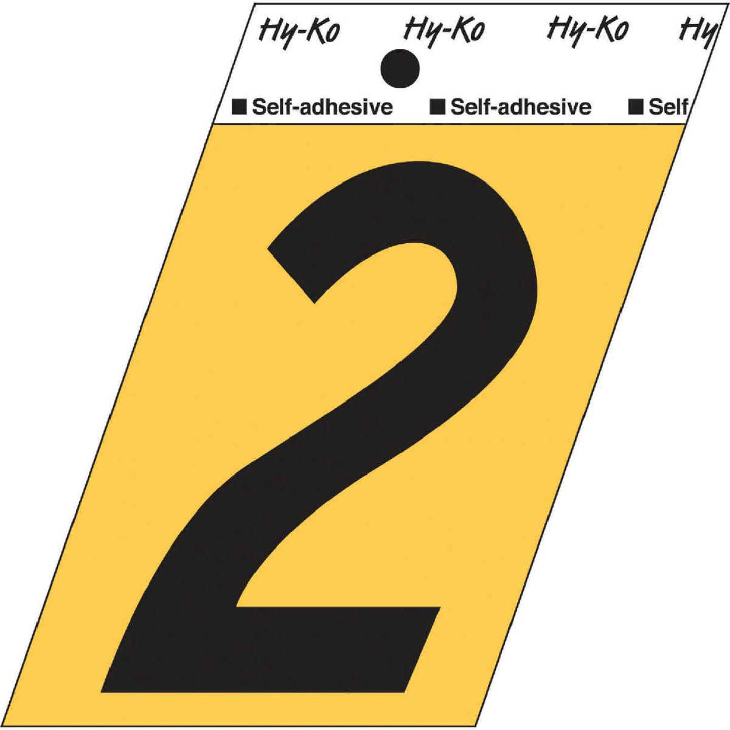 Hy-Ko Aluminum 3-1/2 In. Non-Reflective Adhesive Number Two Image 1