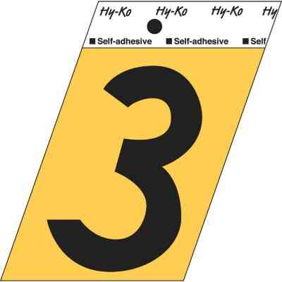 Hy-Ko Aluminum 3-1/2 In. Non-Reflective Adhesive Number Three
