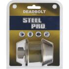 Steel Pro Antique Brass Single Cylinder Deadbolt Image 3