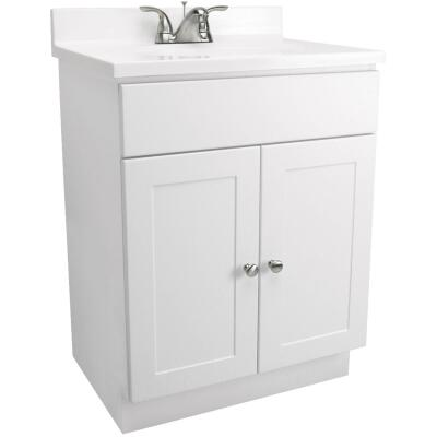 Design House White 30 In. W x 31-1/2 In. H x 18 In. D Combo Vanity with Cultured Marble Top