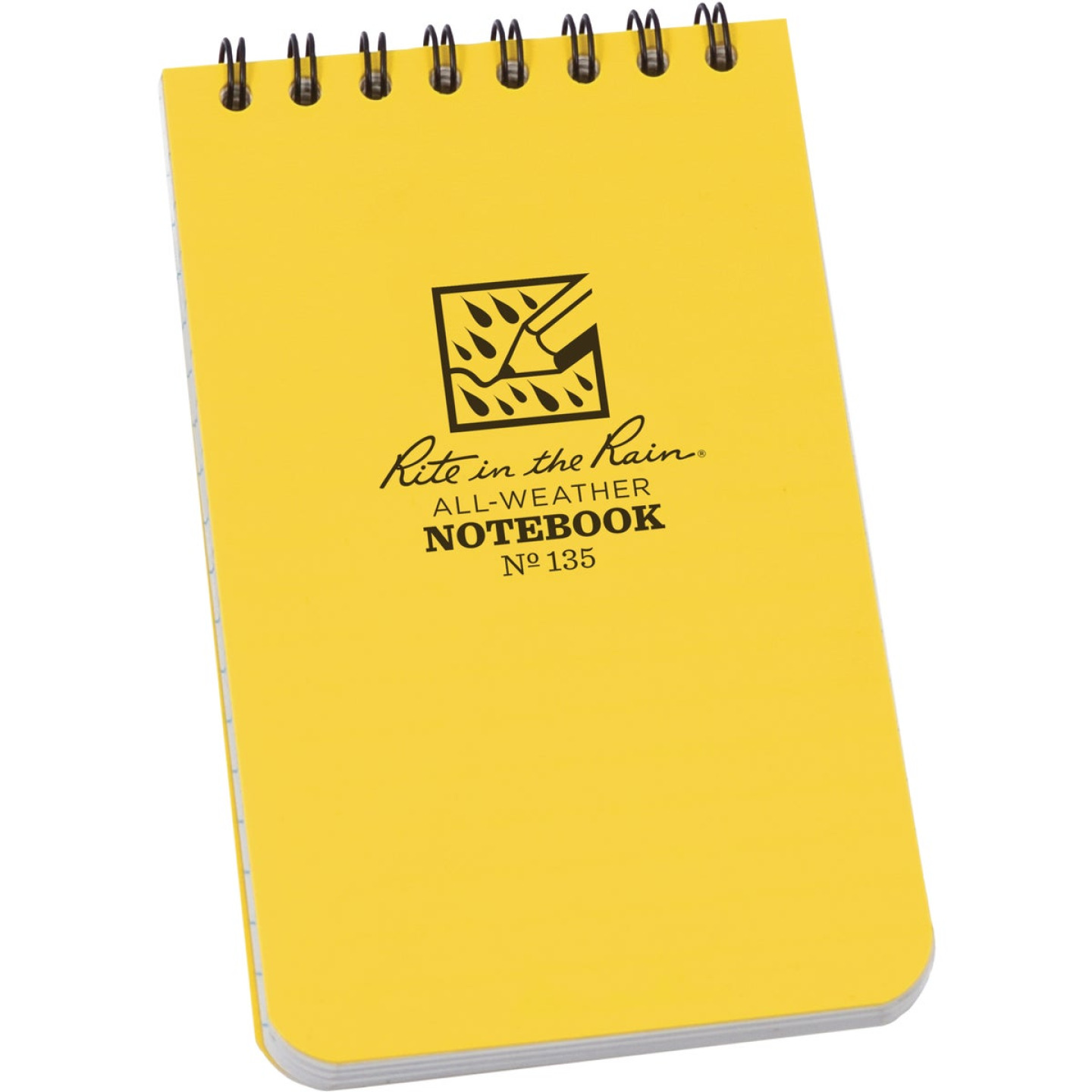 Rite in the Rain 3 In. W x 5 In. H Yellow 50-Sheet Top Spiral Bound All-Weather Memo Pad Image 1