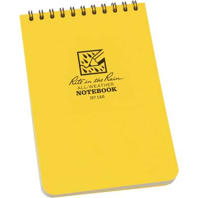 Rite in the Rain 4 In. W x 6 In. H Yellow 50-Sheet Top Spiral Bound All-Weather Memo Pad