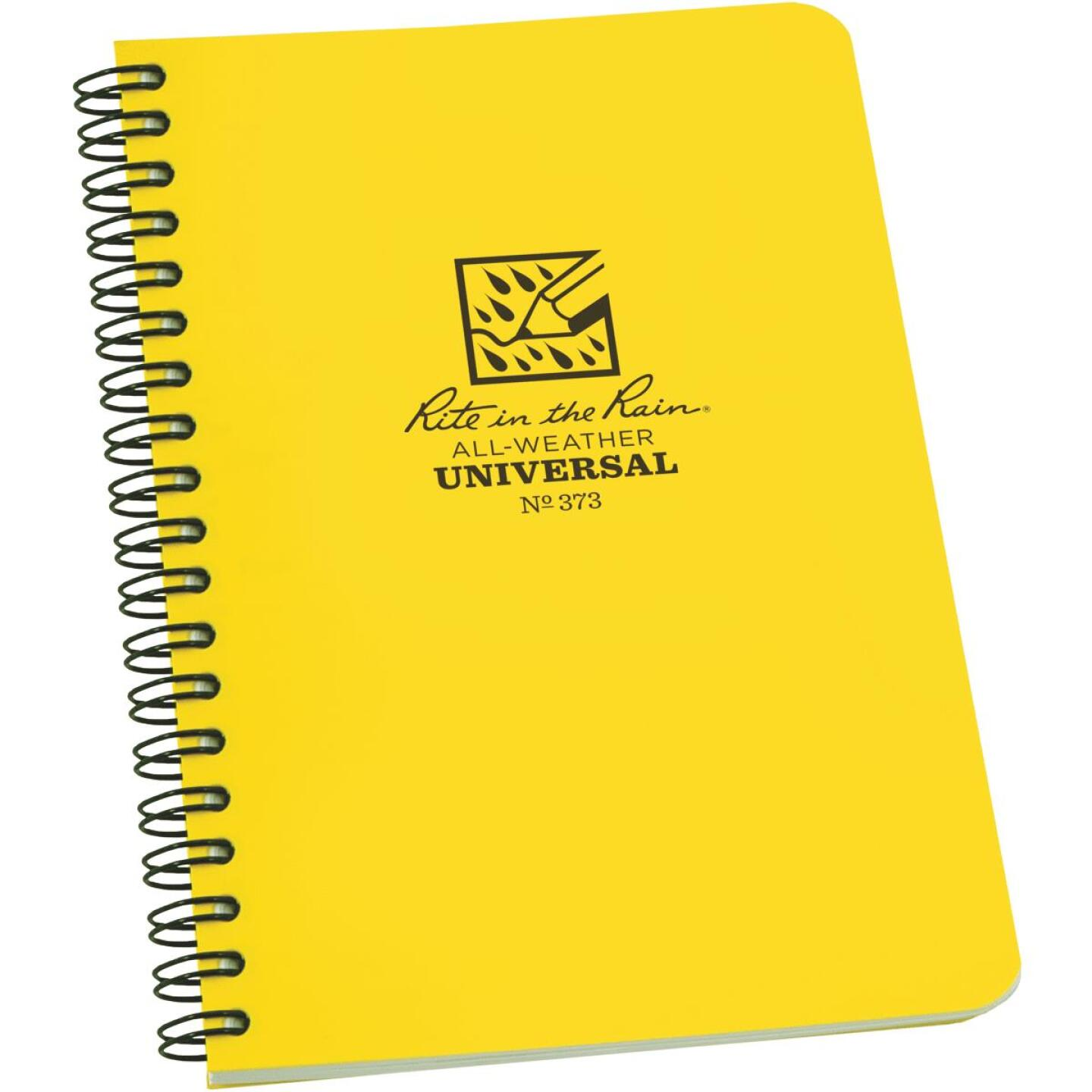 Rite in the Rain All-Weather 4-7/8 In. W. x 7 In. H. 32-Sheet Side-Spiral Bound Notebook, Yellow Image 1