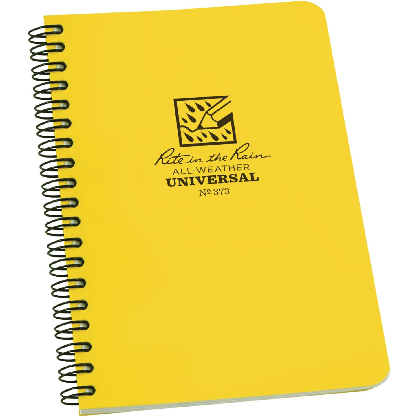 Rite in the Rain All-Weather 4-7/8 In. W x 7 In. H 32-Sheet Side-Spiral Bound Notebook, Yellow Image 1