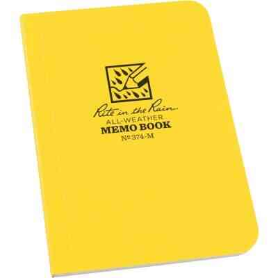 Rite in the Rain 3-1/2 In. W x 5 In. H Yellow 56-Sheet Soft Cover Side Bound All-Weather Memo Pad