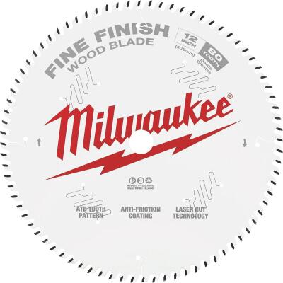 Milwaukee 12 In. 80-Tooth Fine Finish Circular Saw Blade