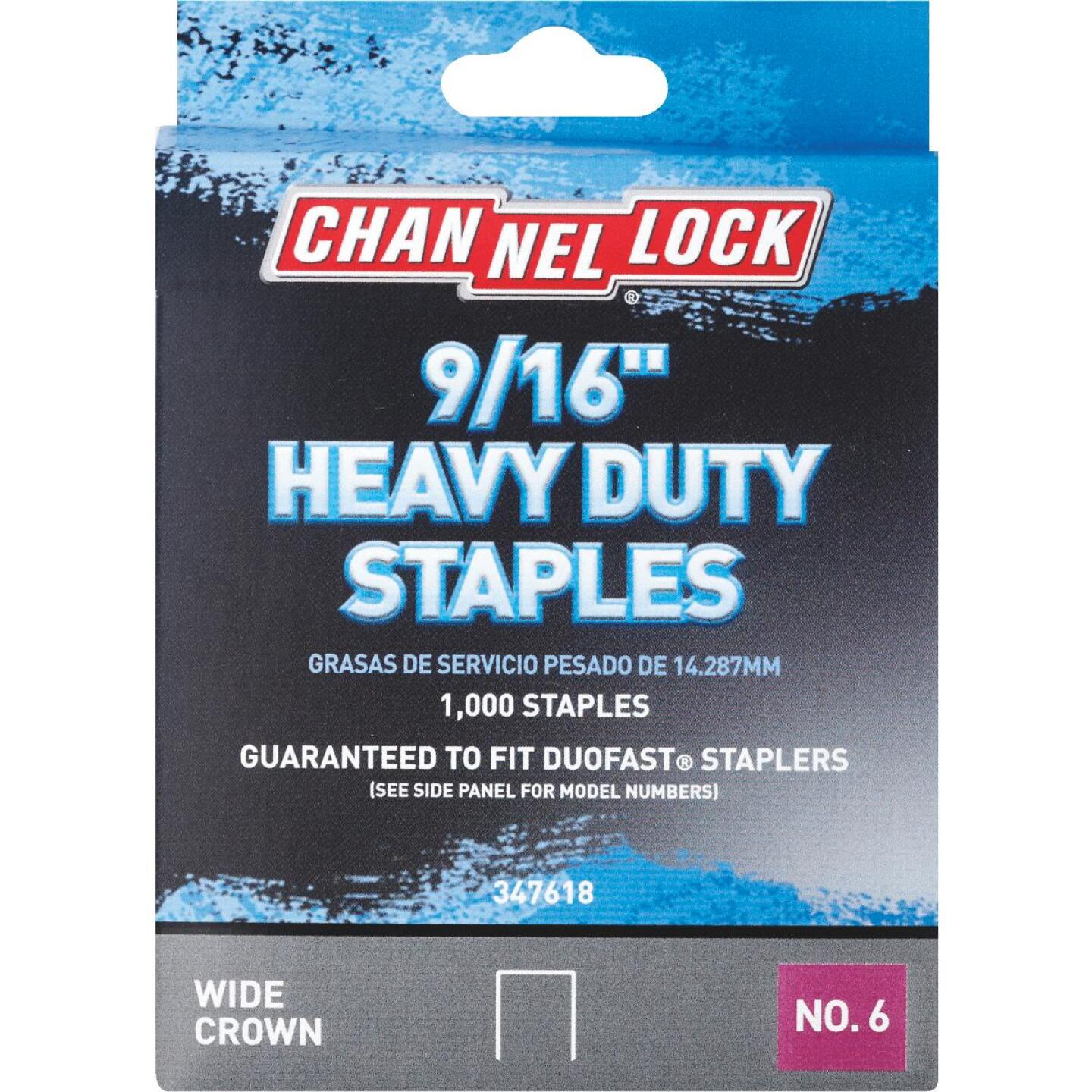 Channellock No. 6 Heavy-Duty Wide Crown Staple, 9/16 In. (1000-Pack) Image 1