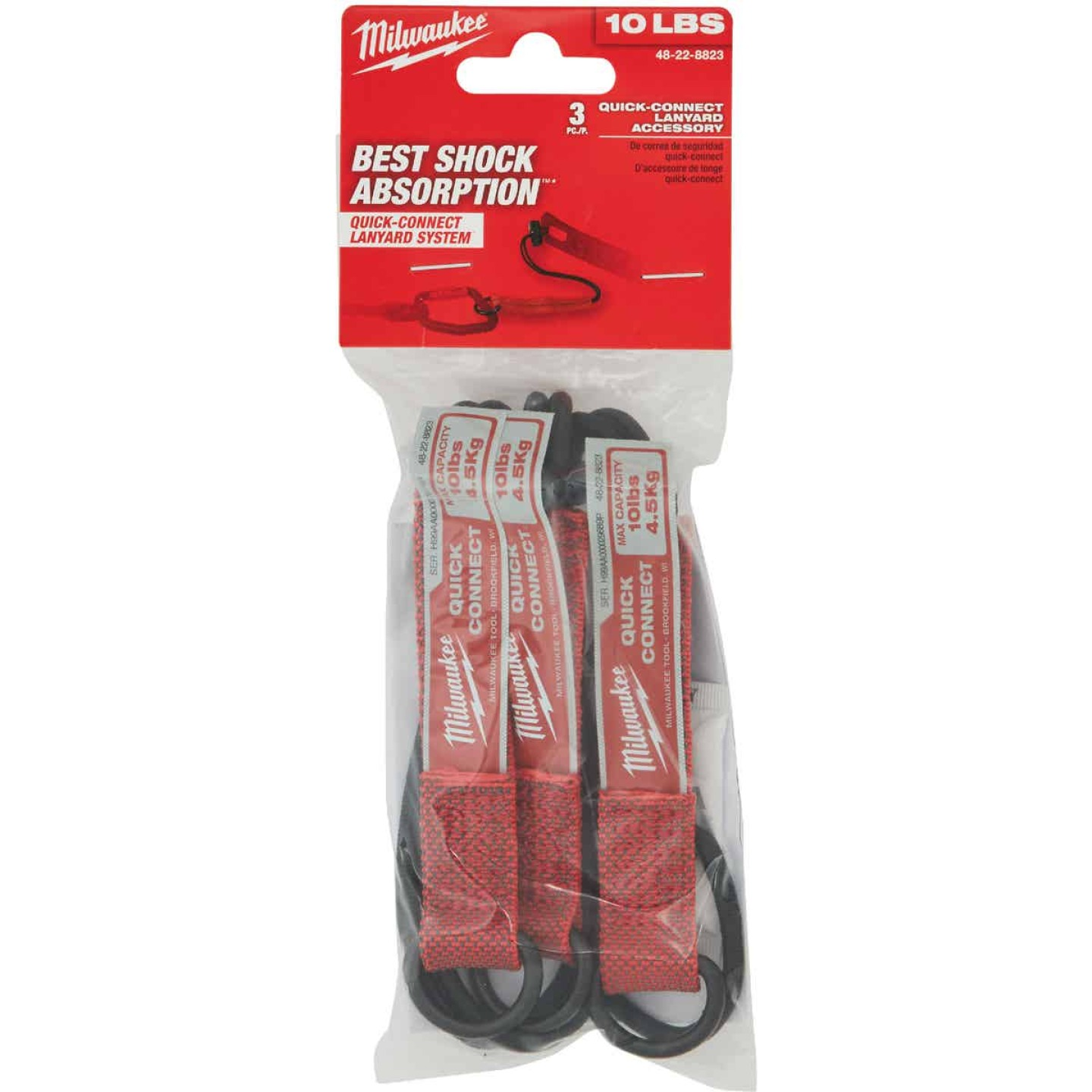 Milwaukee 10 Lb. Quick-Connect Tool Lanyard Accessory (3-Piece) Image 2