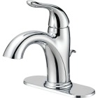 Home Impressions Chrome 1-Handle Lever 4 In. Centerset Bathroom Faucet with Pop-Up Image 1