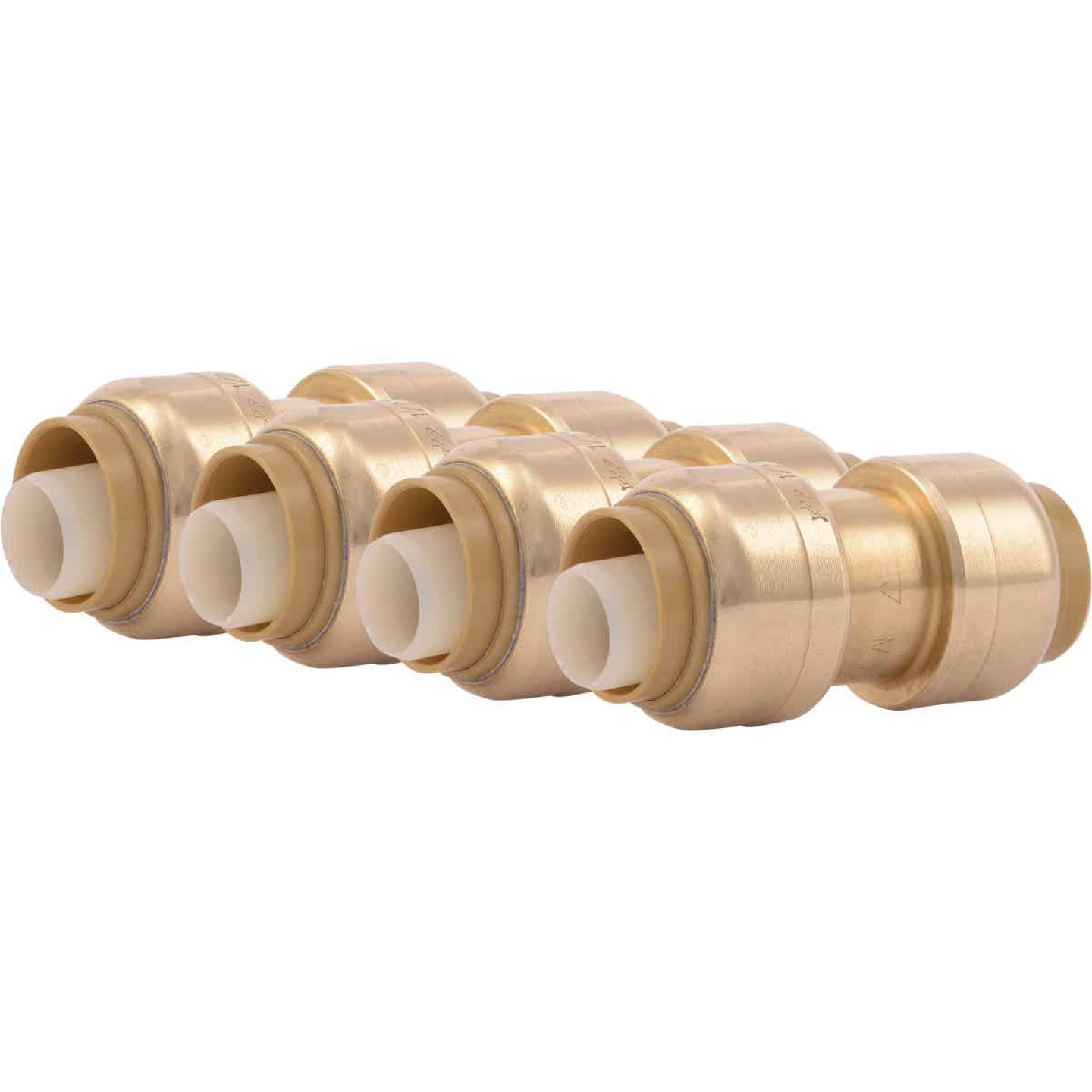 SharkBite 1/2 In. Push-to-Connect Straight Brass Coupling (4-Pack) Image 1