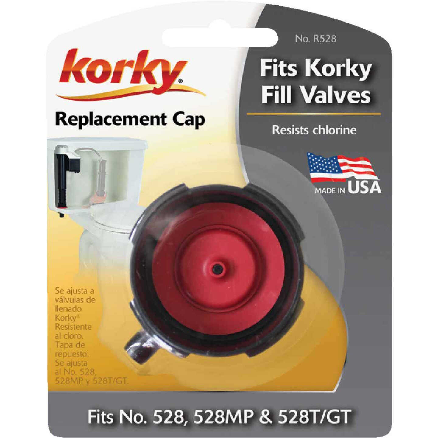Korky Quiet Fill Cap Assembly Replacement Repair Kit & Parts  Image 2