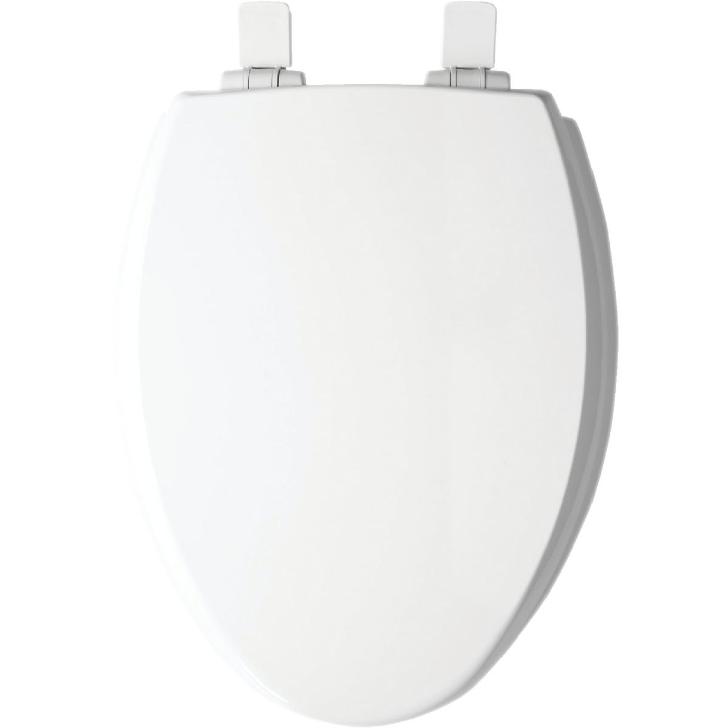 Mayfair Kendall Elongated Closed Front WhisperClose White Enameled Wood Toilet Seat Image 1