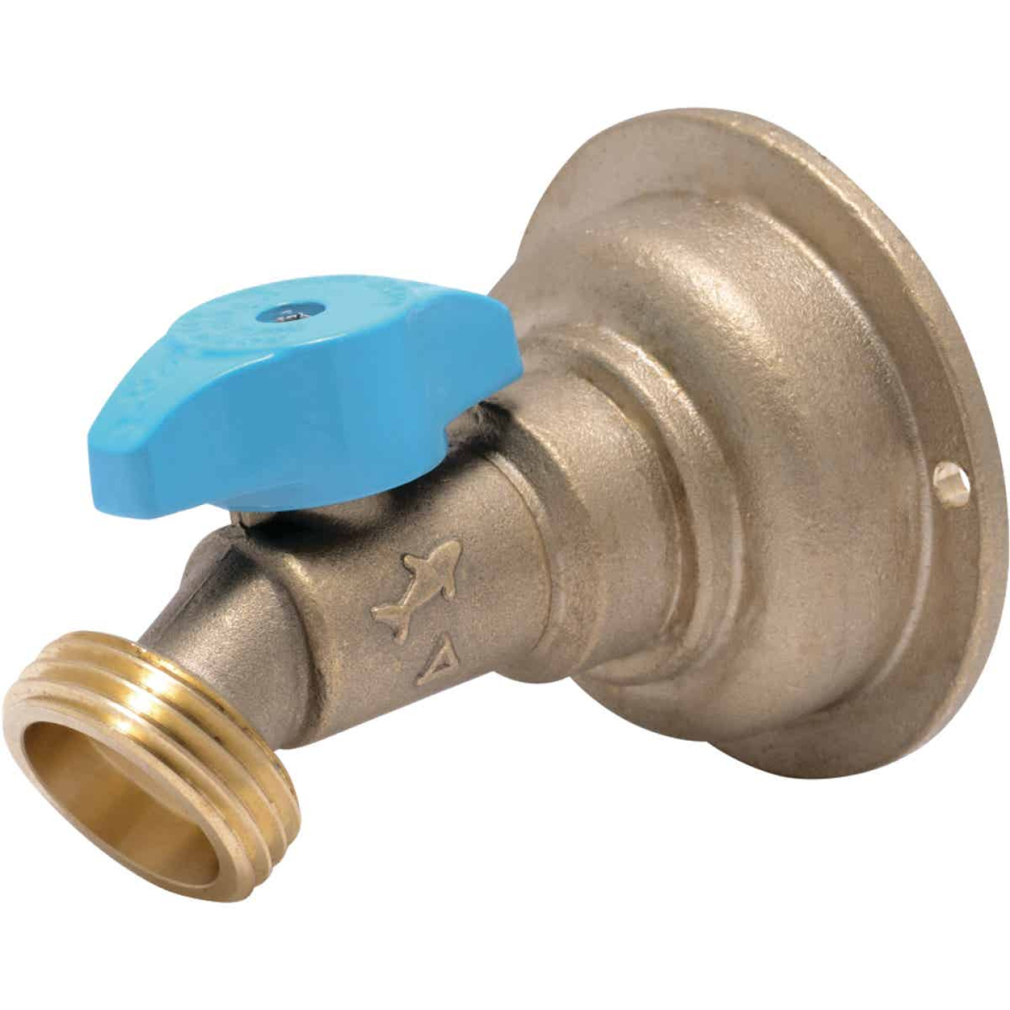 Sharkbite 3/4 In. x 3/4 In. MHT Quarter Turn Brass No Kink 45 Degree Hose Bibb Image 1
