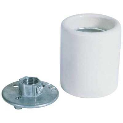 Westinghouse Keyless Medium Base White Porcelain Lamp Socket