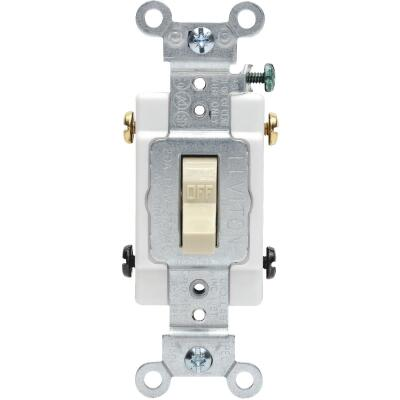 Leviton Toggle Ivory 20A Grounded Quiet Double Pole Switch
