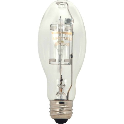 Satco 175W Clear ED17 Medium Metal Halide High-Intensity Light Bulb