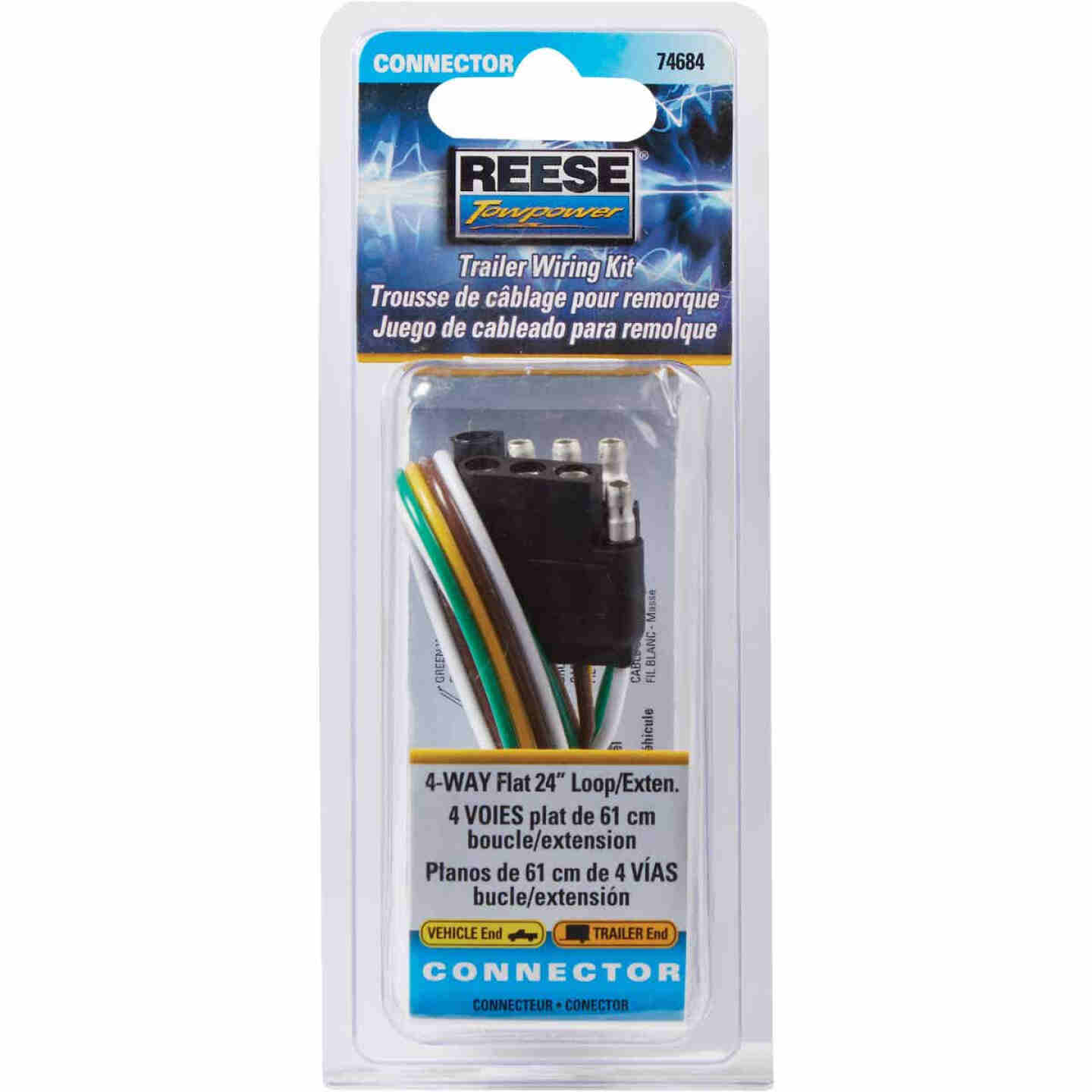 Reese Towpower 4-Flat 24 In. Loop Vehicle/Trailer Connector Set Image 2