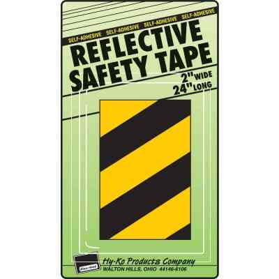 Hy-Ko 2 In. W. x 24 In. L. Yellow & Black Stripe Reflective Safety Tape