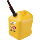 Midwest Can 5 Gal. Plastic Auto Shut Off Diesel Fuel Can, Yellow Image 1