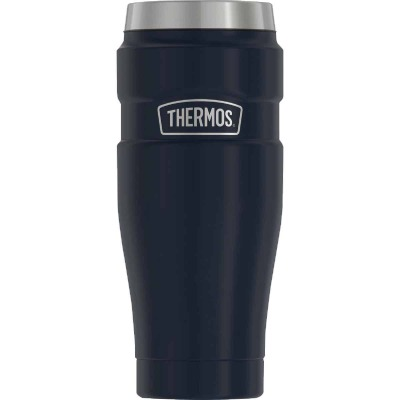 Thermos 16 Oz. Matte Blue Stainless Steel Insulated Travel Tumbler