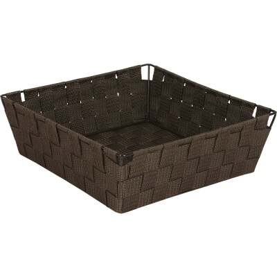 Home Impressions 11.75 In. x 3.75 In. H. Woven Storage Basket, Brown