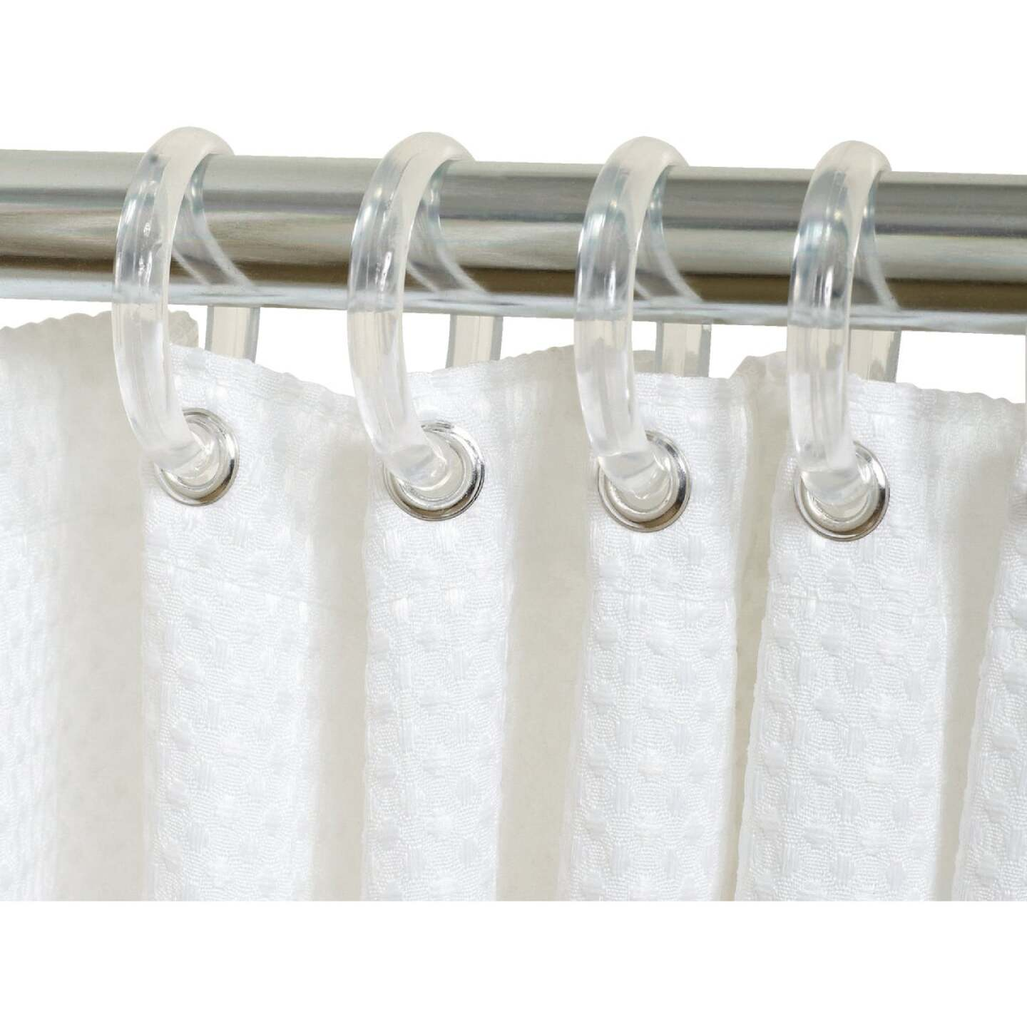 Zenith Clear Plastic Shower Curtain Ring (12 Count) Image 1