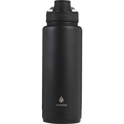 Manna 40 Oz. Onyx Black Convoy Insulated Vacuum Bottle