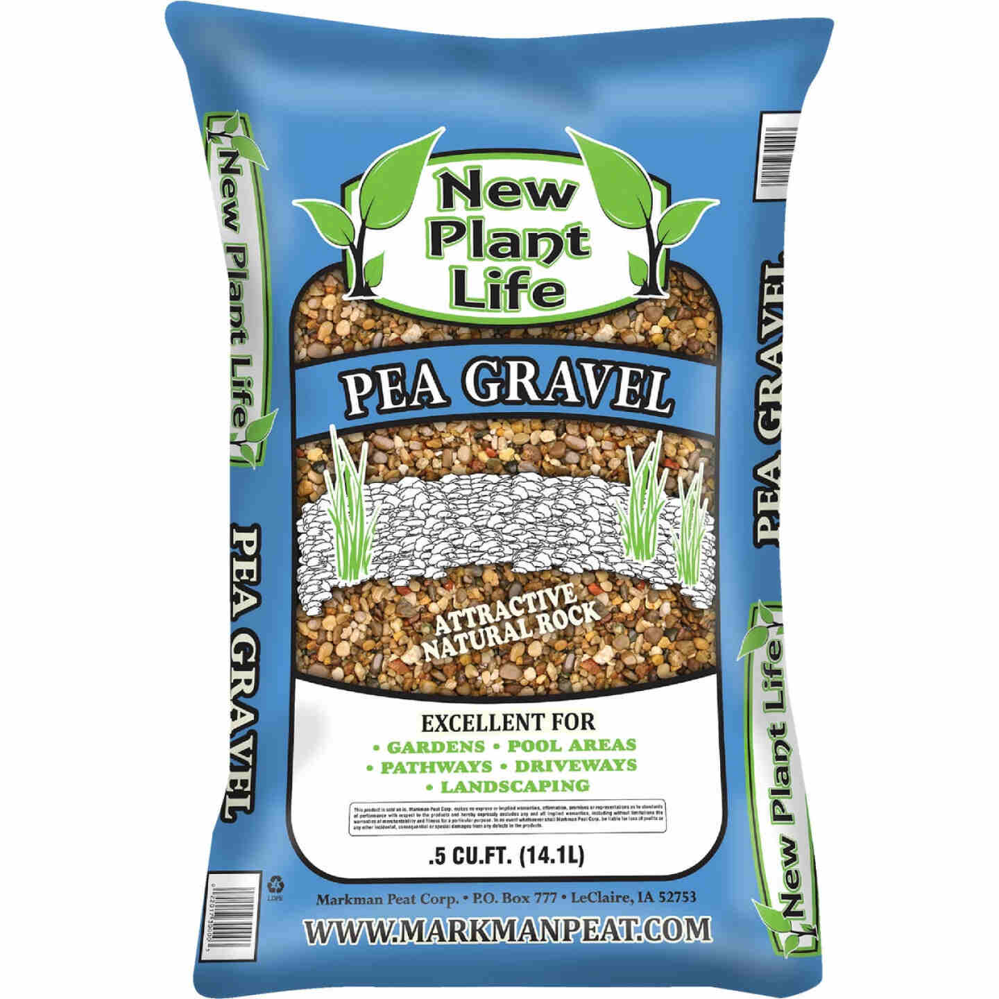 New Plant Life 0.5 Cu. Ft. Pea Gravel Image 1